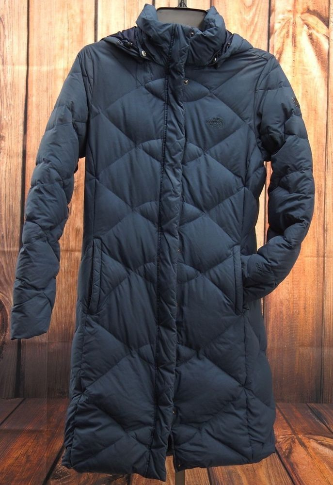 North Face Womens 550 Navy Goose Down Long Winter Snow Jacket Parka Coat  Size S  TheNorthFace  Parka  All 51c40c79a