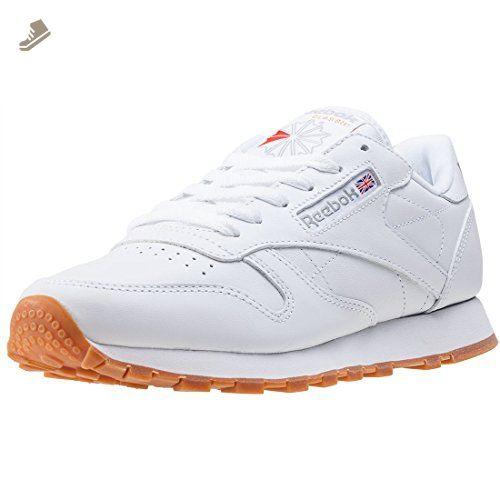 Reebok Classic Leather Womens Trainers White Gum 4.5 UK