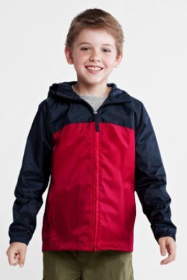 9b8ecb97 Boys' Colorblock Packable Navigator® Rain Jacket from Lands' End ...
