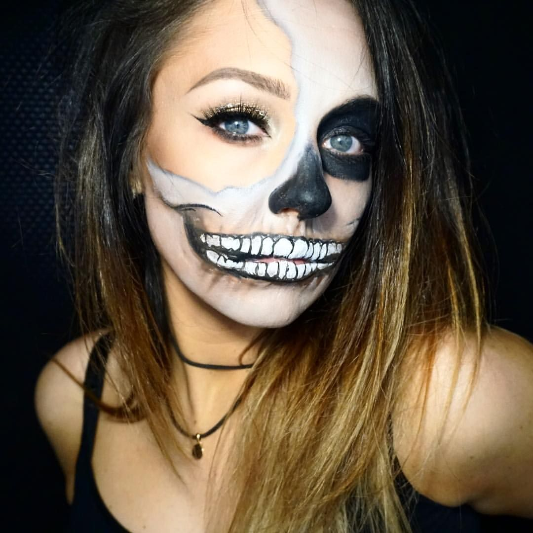 SKULL makeup  by Erica Gamby