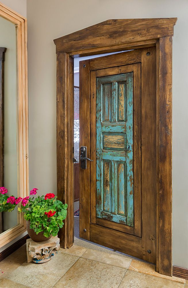 Antique Mexican Door with Surround - La Puerta Originals - Antique Mexican Door With Surround - La Puerta Originals Windows