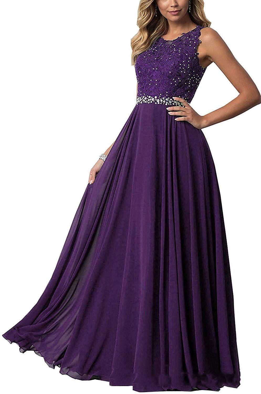 Beyonddress Damen Abendkleider mit Applikationen Elegant Ballkleid