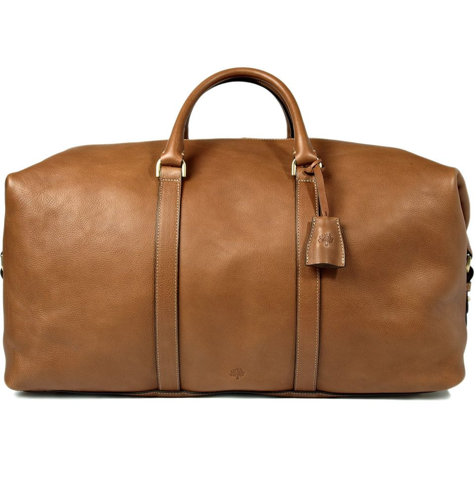 Mulberry Men's Clipper Leather Holdall. I love men's leather luggage. The  more beat up
