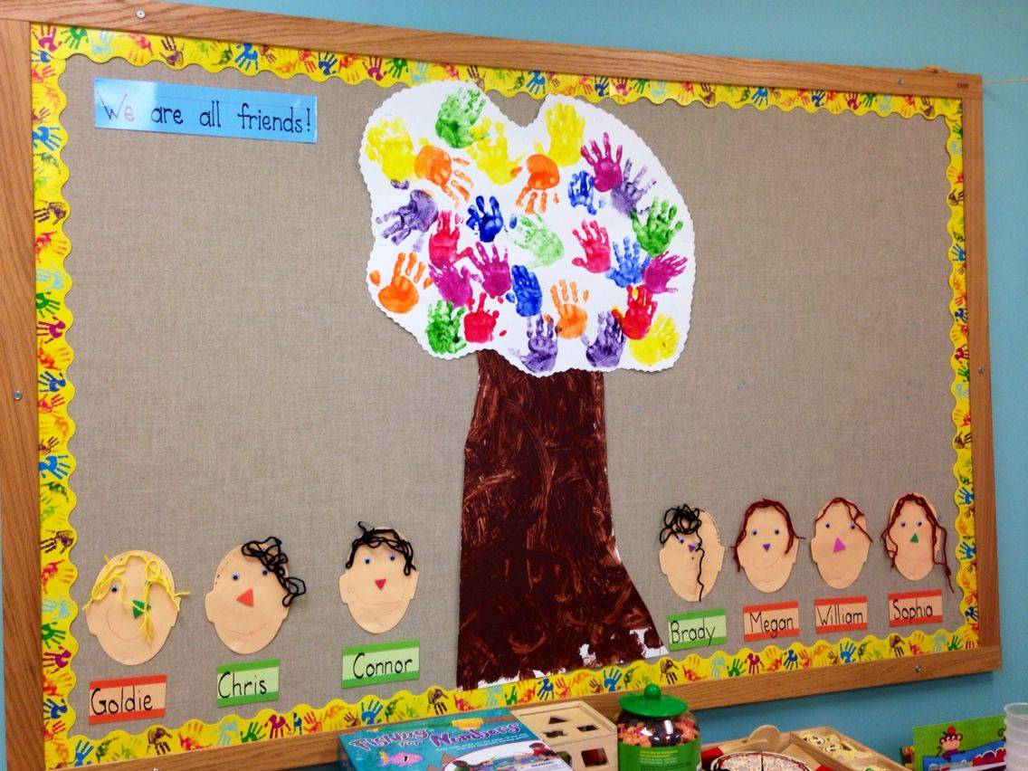 All About Me Facial Features Handprint Friendship Tree