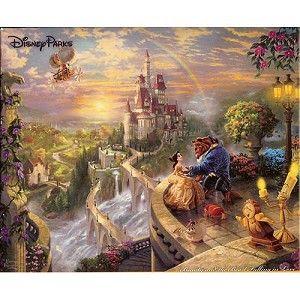 Disney Thomas Kinkade Puzzle - Beauty and The Beast - 1000 ...