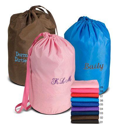 Monogrammed Laundry Bag College Dorm Travel By Shopmodernmonograms