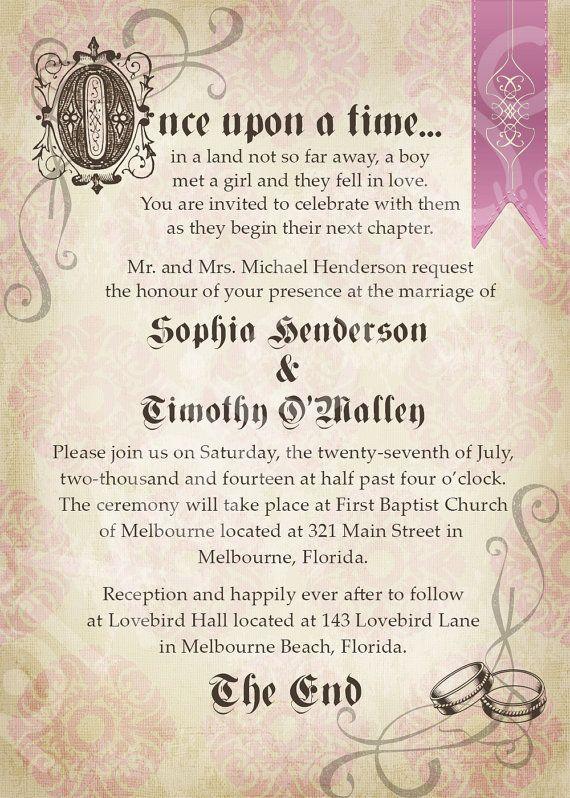 STORYBOOK Custom Wedding Invitation Digital File You Print