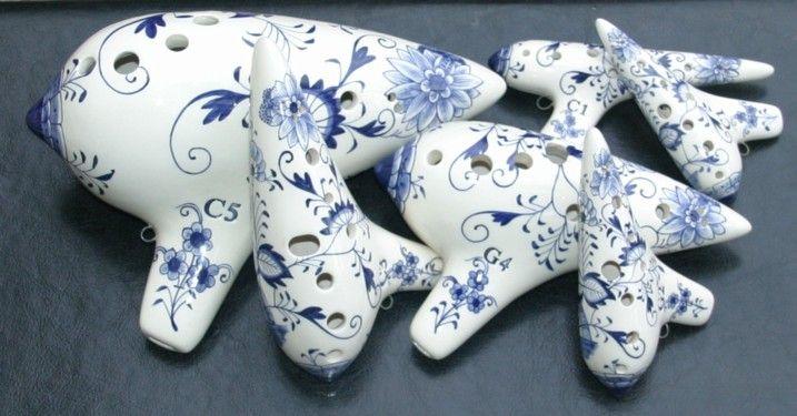 Hans Rotter Meissen-style ocarinas