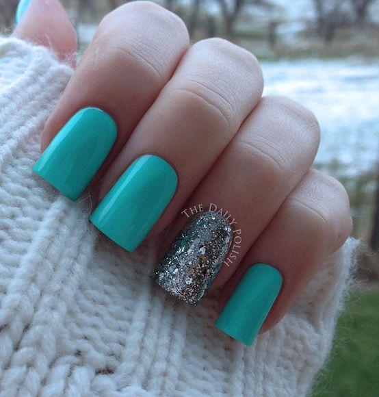 Aqua Nail Art: Aqua Nails, Prom