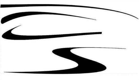 figure 8 2 color design boat decals
