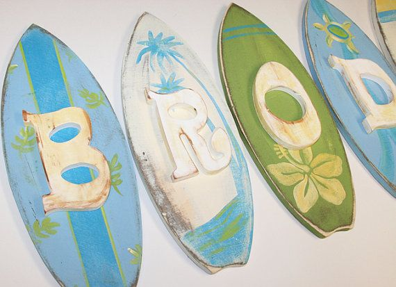 Rustic Surf Shop Hand Painted Nursery Wall By