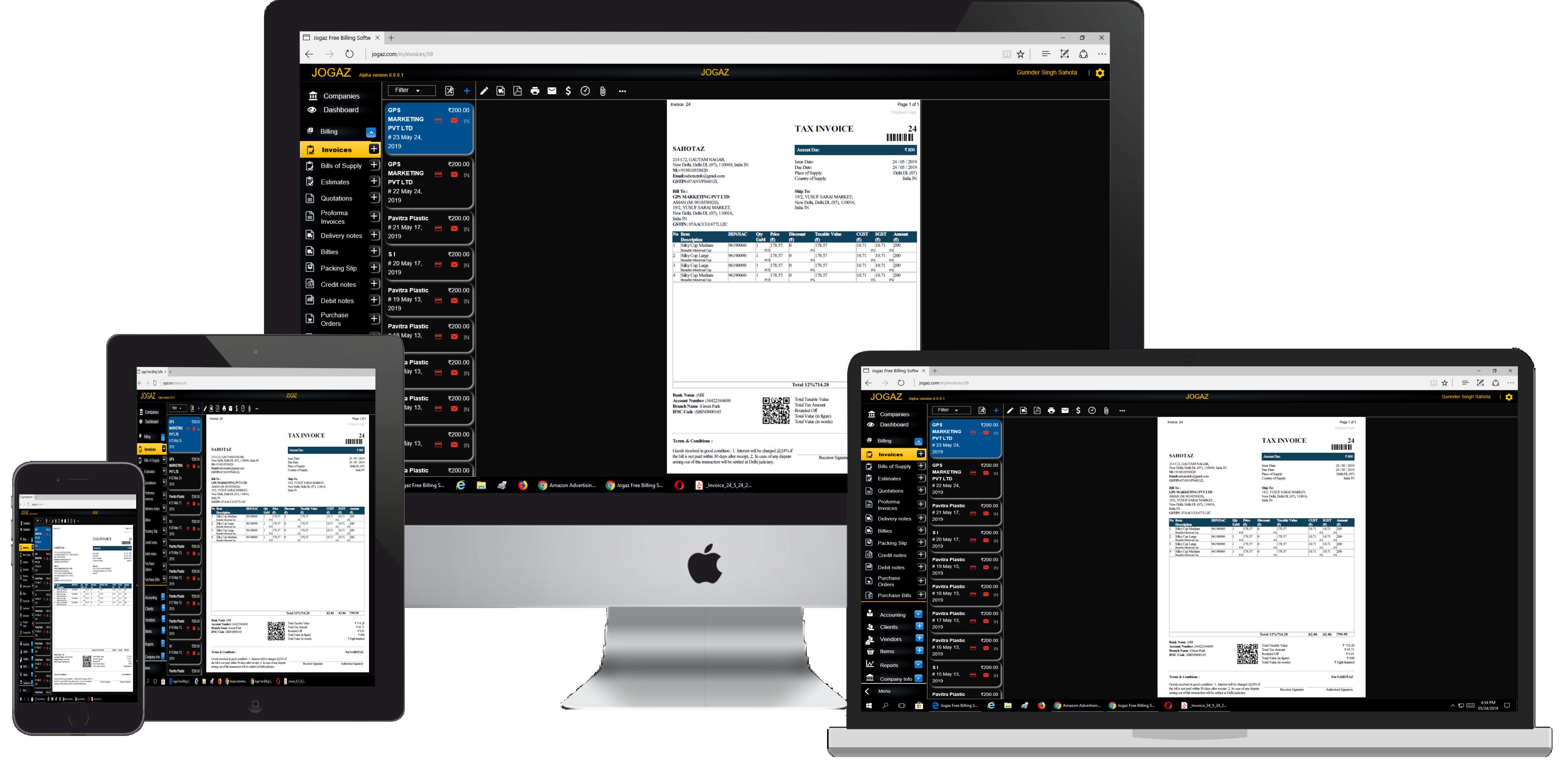 Lifetime Free Gst Billing Software Free Accounting Software Accounting Software Billing Software