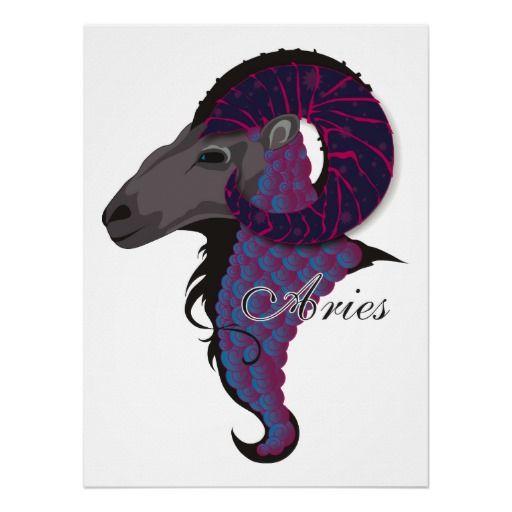 Starlight Aries Print   Zazzle co uk   Aries   Aries baby, Aries