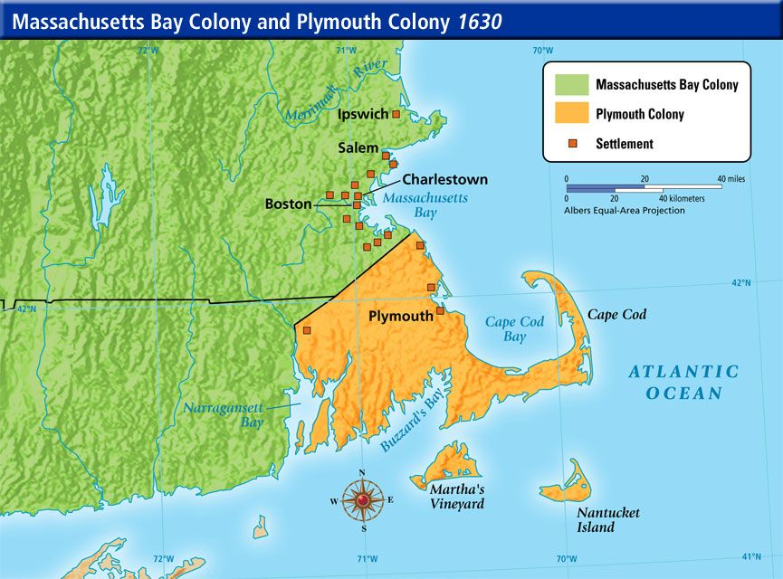 massachusetts bay colony vs virginia colony Virginia was the first permanently settled english colony, with the 1607  in fact,  for a time, the colonies of massachusetts bay and new.