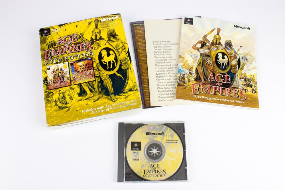 Age Of Empires Gold Edition Includes Rise Of Rome By Ensemble