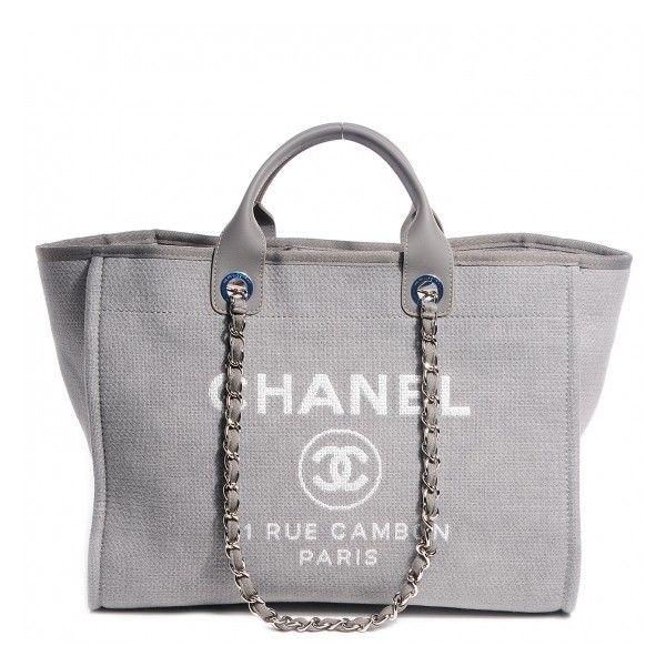 Chanel Black Terry Cloth Cotton Beach Tote Bag - Photo 1 | Beach ...