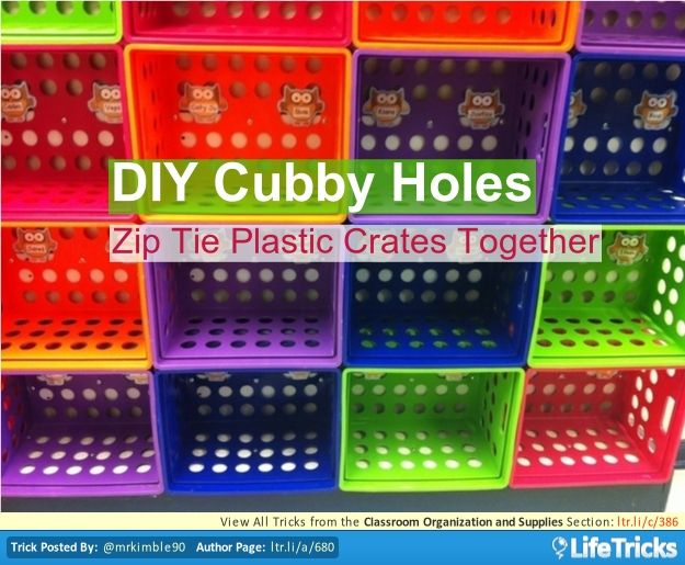 Classroom Organization And Supplies Diy Cubby Holes