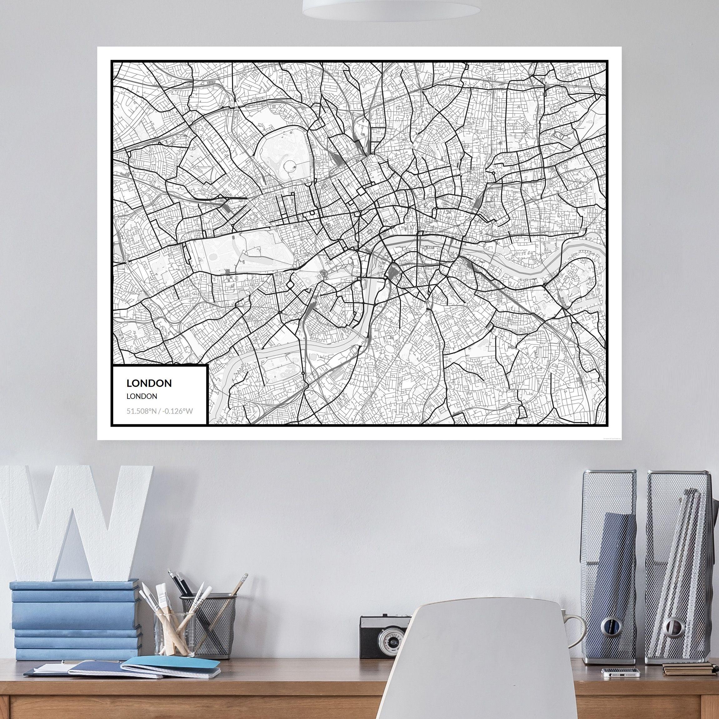 MAP #MAKER #Wandbilder #Glasbilder #Leinwandbilder #Stadtplan ...