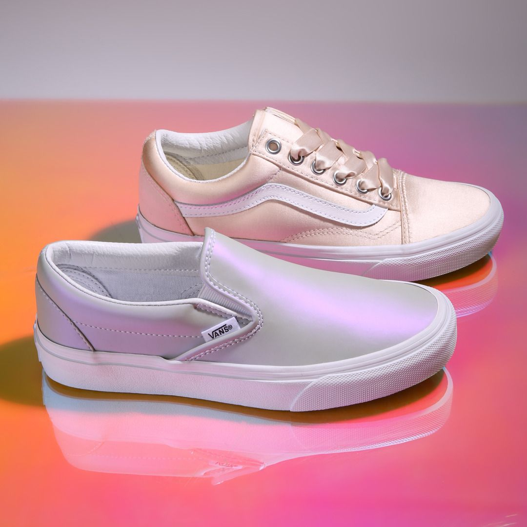 Shop the Muted Metallic Slip-On and Satin Lux Old Skool online or find a  store at vans.com. 21747ce08