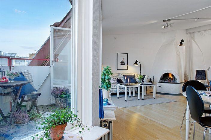 Swedish Apartment Design attic-apartment-design-swedish-interiors-scandinavian-interiors