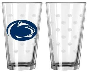 Penn State Nittany Lions Satin Etch Pint Glass Set (backorder)