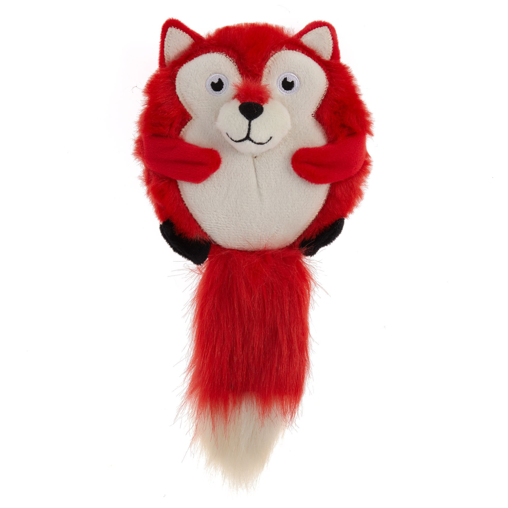 Top Paw Fox Round Squeaker Dog Toy Crinkle Plush Dog Toys