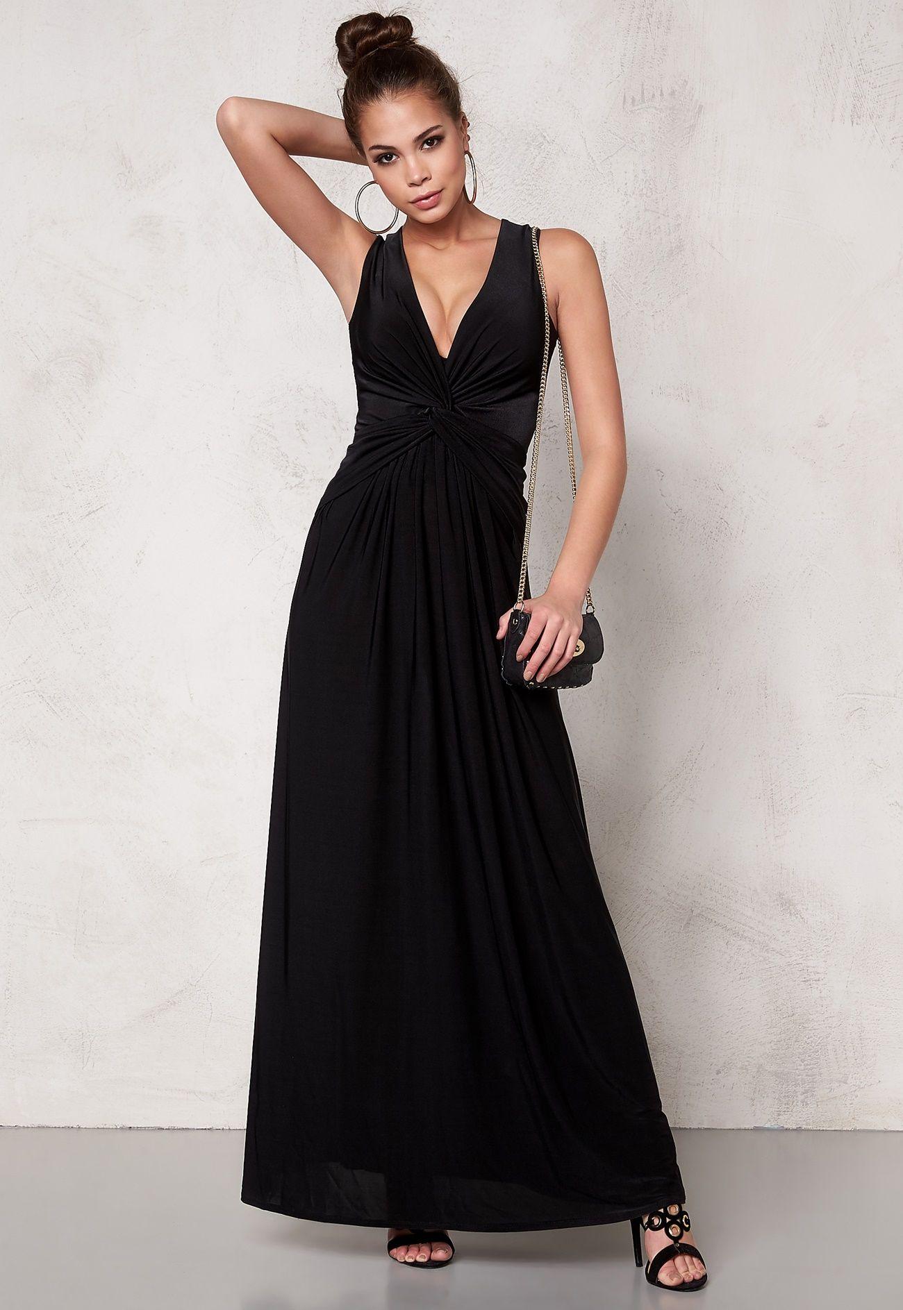 95c47301 Goddiva Dress Black - Bubbleroom | Iltapuvut (pitkät)