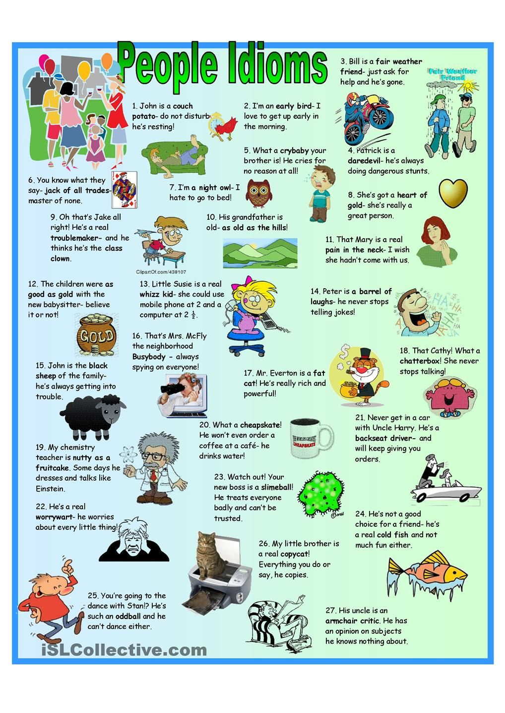Idiom Examples English Idioms Idioms Learn English