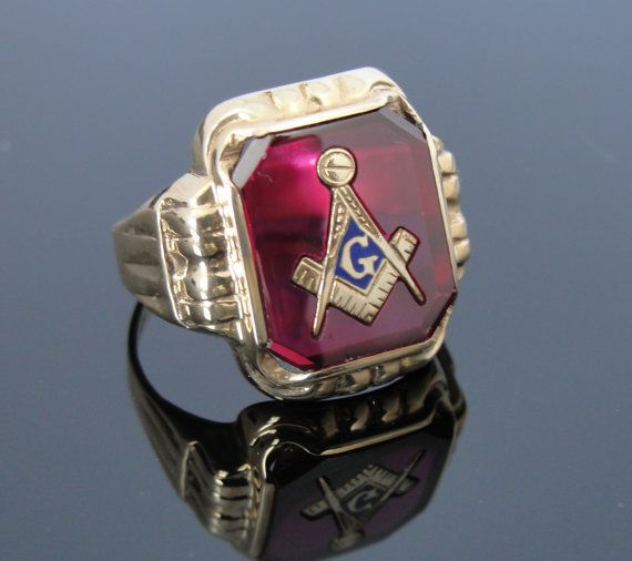 Antique Masonic Rings | master mason P H A and our sisters
