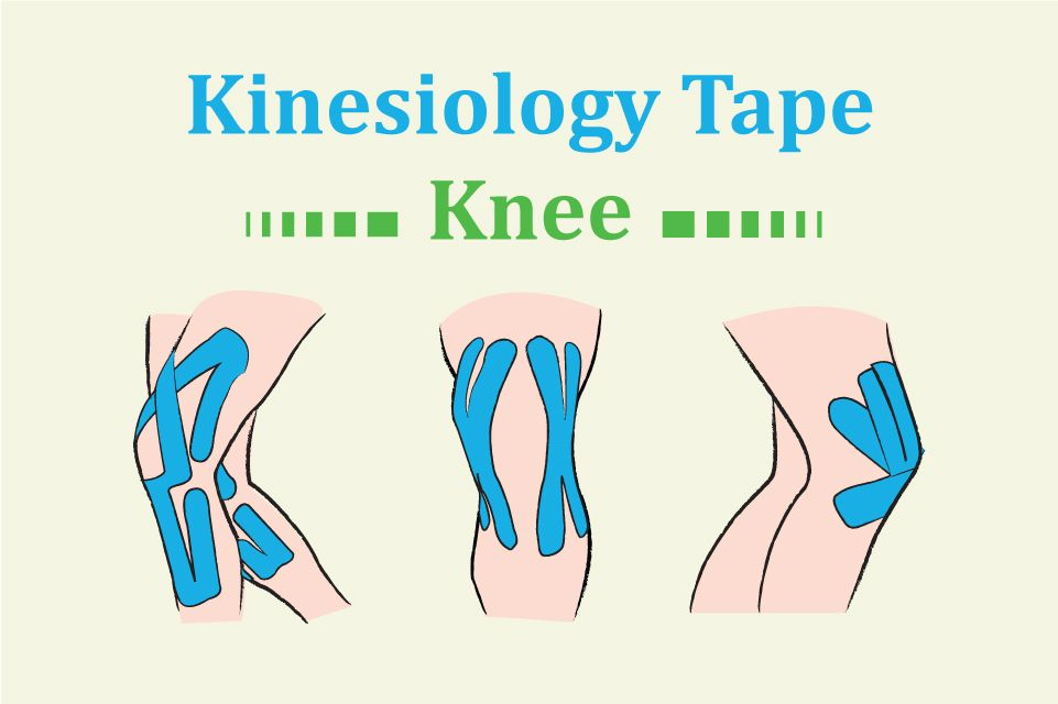 Kinesiology tape for knee kinesiology taping