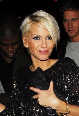 Sarah Harding Short Haircut in Sculpted Layers