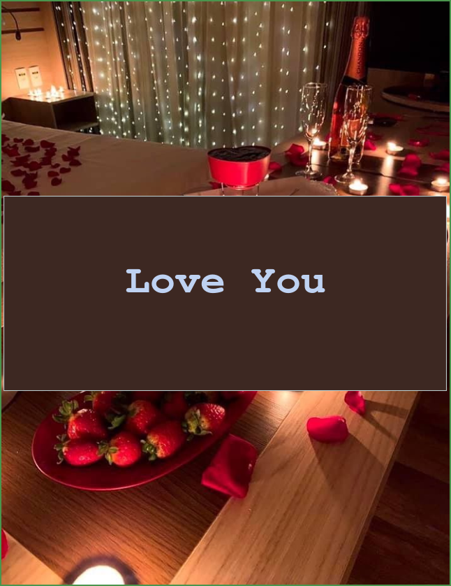 Love you | Romantic Bedroom Ideas For Anniversary ...