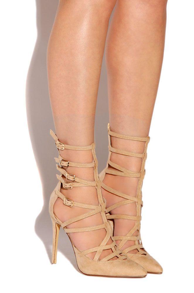 Lola Shoetique - Irresistibly Vain - Nude, $39.99…