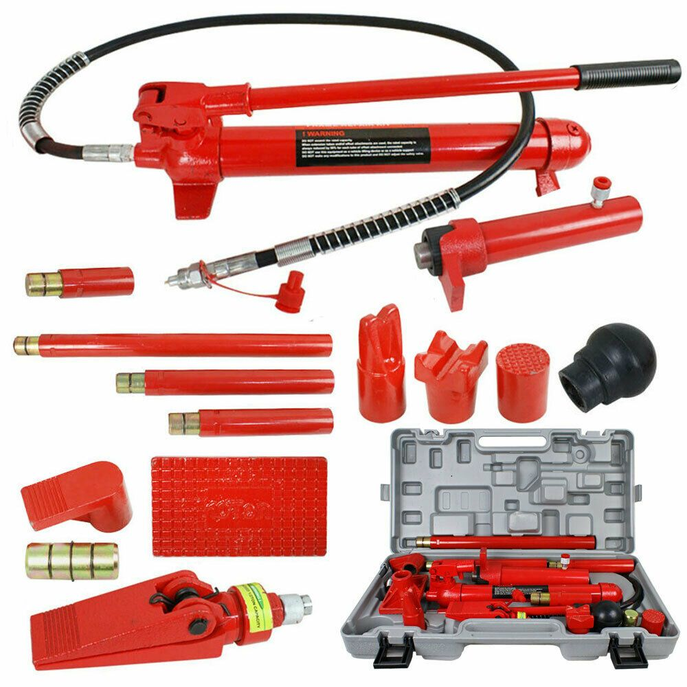 10 Ton Porta Power Hydraulic Jack Body Frame Repair Kit Auto Shop Tool Lift Ram Car Shop Kit Cars Lifted Ram