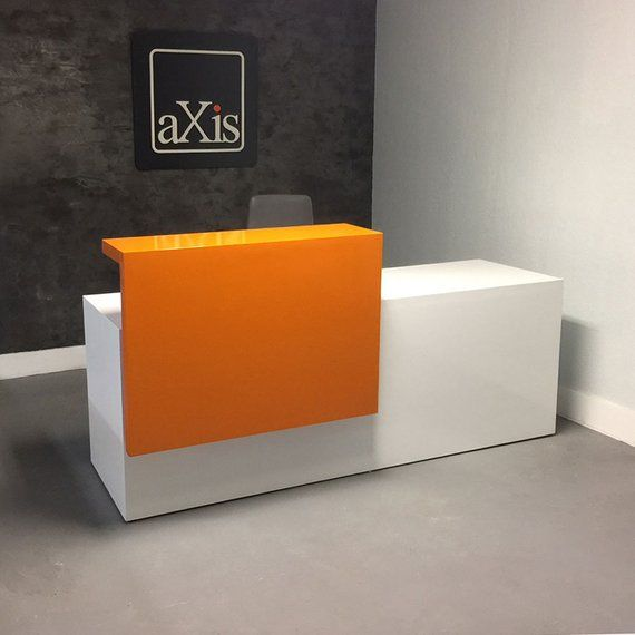 Los Angles Reception Desk In High Gloss Finish Balcao Caixa Para