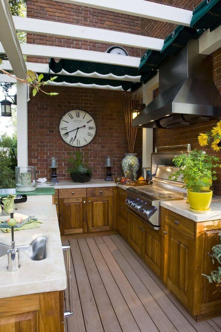 Ideas Geniales para las Cocinas al Aire Libre | Cocinas, Ideas y ...