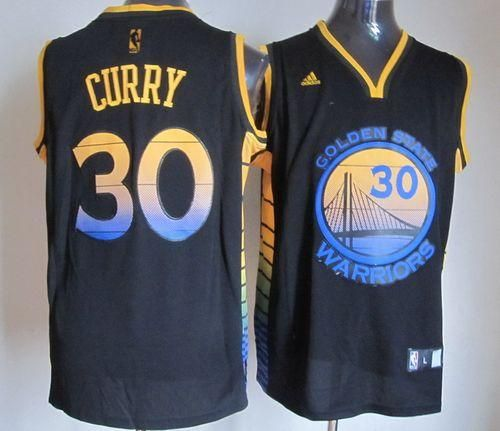 c31beef28 Warriors #30 Stephen Curry Black Vibe Stitched NBA Jersey ...