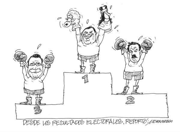 Elecciones Feb 2014 Resultados Electorales Chamorro Sketches Political Cartoons Humanoid
