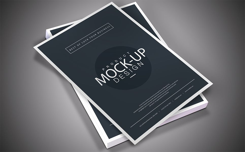 A4 Size Flyer Mockup Free Download