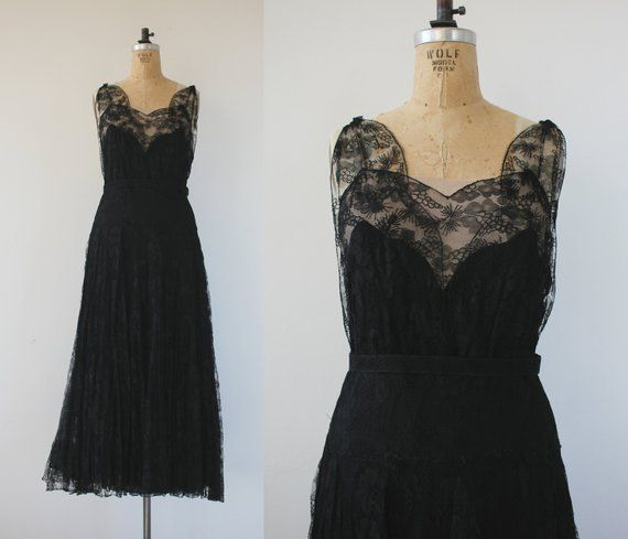 7b8cdba2ecd vintage 1930s dress   30s lace dress   30s black gown   20s dress   art  deco lace dress   jazz age d