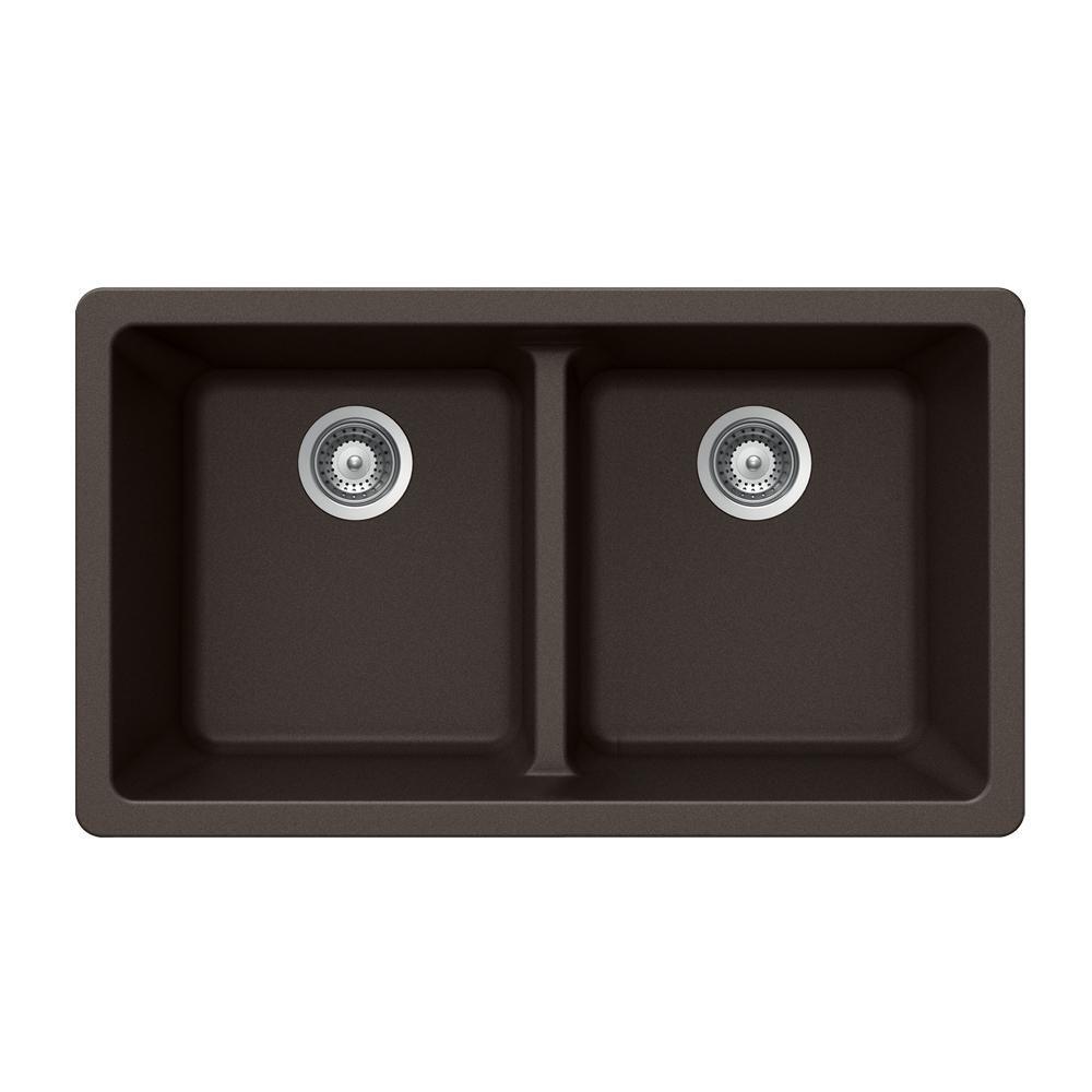 Houzer Quartztone Undermount Granite Composite 33 In Double Bowl