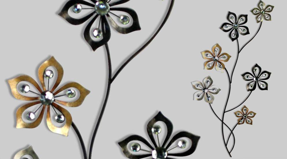 Decoration Metal Murale Tulipes