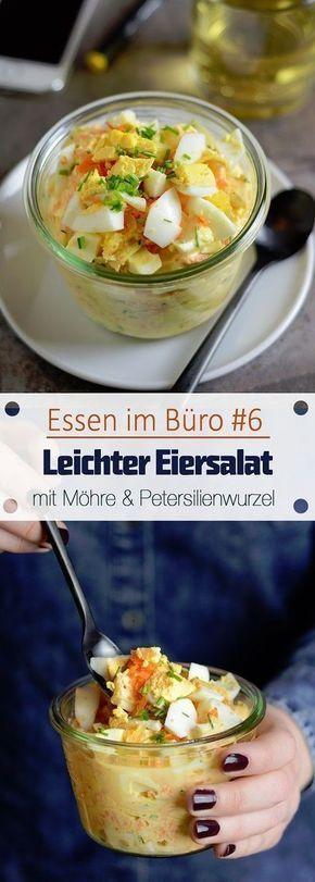 Essen im Büro #6 – Leichter Eiersalat mit Möhre und Petersilienwurzel