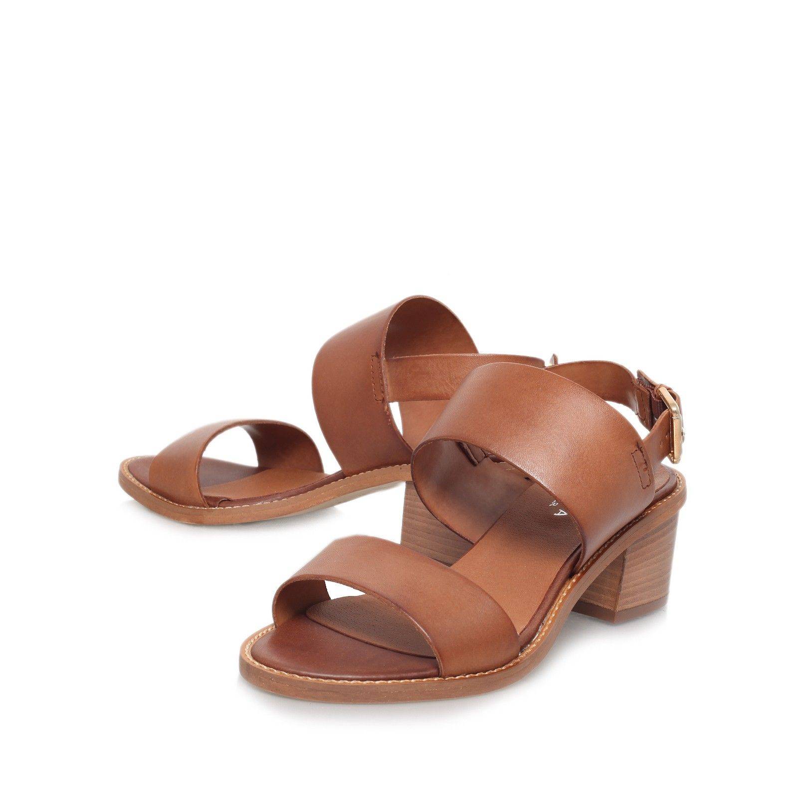 Womens sandals mid heel - Kimberly Tan Mid Heel Sandals From Carvela Kurt Geiger