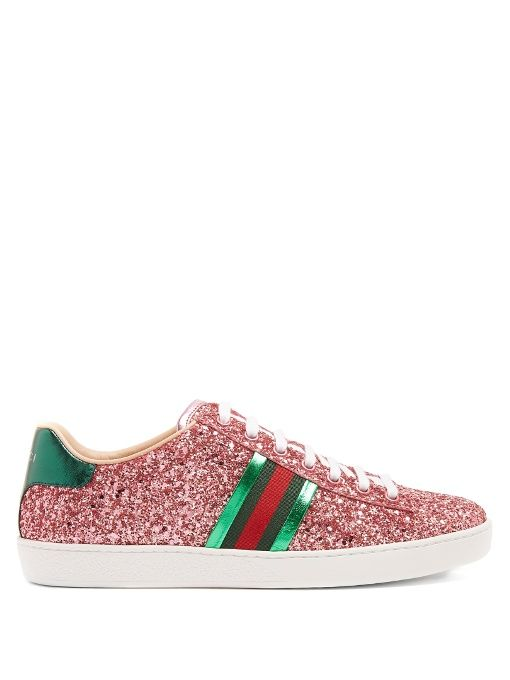 GUCCI New Ace Glitter-Covered Trainers.  gucci  shoes  sneakers Tenis De f669f5569c5
