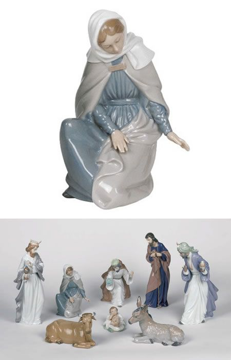 Nao By Lladro Nativity Set Religious Figurine Statue Sculpture Home D Cor Decorations Christian