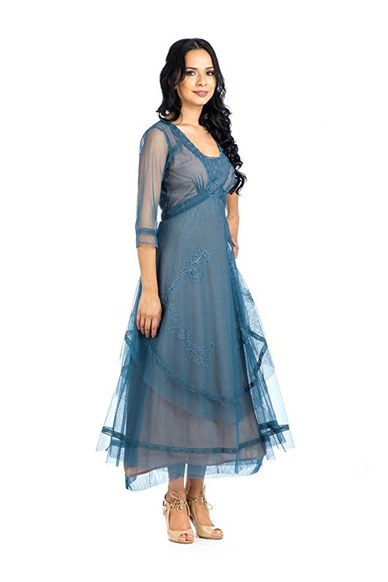 Nataya CL-163 Mary Vintage Style Party Dress in Azure | Products ...