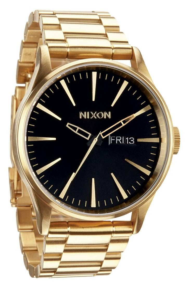 Gold Watch | Nixon The Sentry SS Watch - All Gold/Black | KJ Beckett