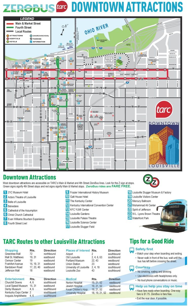 Louisville bus map | Maps | Pinterest | Bus map, Usa cities and City