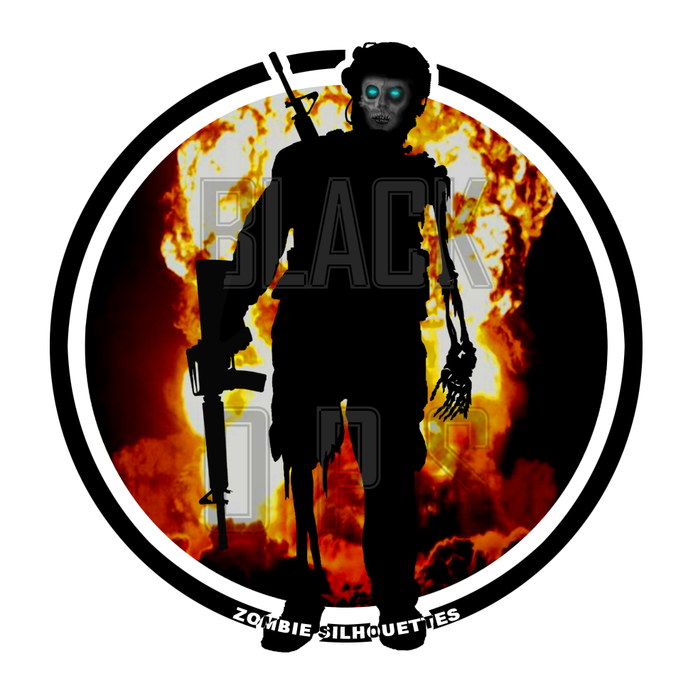 Zombie Silhouettes Sticker For The Upcoming Cod Black Ops 2 Release Created By Sl Sullivan Zombie Silhouette Zombie Creepy